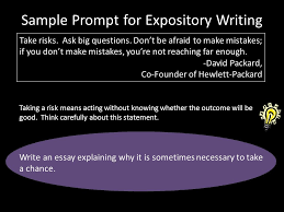 writing an expository essay ppt video online  8 sample prompt for expository writing take risks