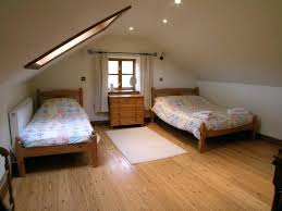 bedroom with slanted walls how