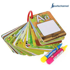 water drawing 26 english learning card magic with 2 pen letter card painting board educational toys