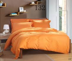 orange home textiles cotton satin stripe duvet cover comforter cover twin full queen king 200x230cm 220x240cm