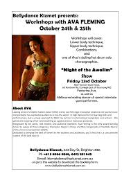 Workshops with AVA FLEMING October 24th & 25th