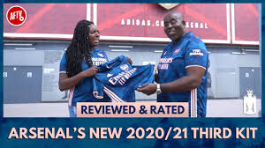 The shorts and socks of the new third kit, which will be available to buy in august, will also be blue. Arsenal S New 2020 21 Third Kit Reviewed Rated Feat Robbie Pippa Youtube