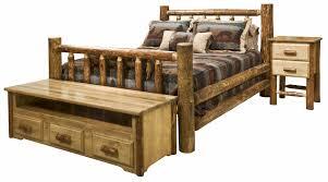 Log Furniture Bedroom Sets Glacier Country Log Bedroom Set Montana Woodworksar Amish Furniture