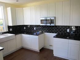 tile kitchen countertops white cabinets. Kitchen Backsplash Black Tile Grey Mosaic Ideas For White Cabinets Rustic Countertops P