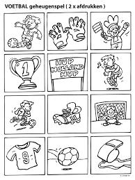 Kleurplaat Geheugenspel Ek Voetbal Kleurplatennl Football