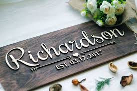 practical personalized last name wall decor wedding sign established family  on personalised family name wall art with practical personalized last name wall decor wedding sign established