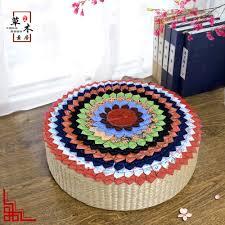 Image Boho Chinese Ethnic Style Fabric Cushion Round Handmade Melaleuca Mosaic Embroidery Bay Window Floor Cushions Futon Tatami Shopclues Usd 1377 Chinese Ethnic Style Fabric Cushion Round Handmade