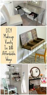 diy makeup vanity table. DIY Your Dream Makeup Vanity In 16 Affordable Ways Diy Table