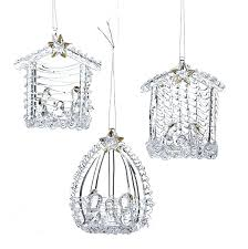spun glass ornaments these nativity clear