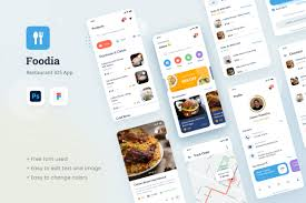 While this isn't specifically an app for fonts, it's kind of a brother to those apps. Foodia Restaurant Ios App Design Ui Graphic By Peterdraw Creative Fabrica