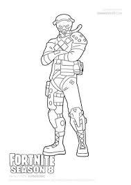 Fortnite Battle Royale Coloring Page Master Grenadier Kacee