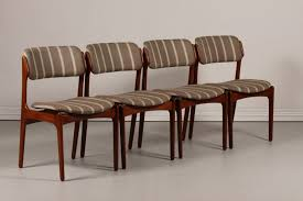 modern upholstered dining chairs erik buch for oddense maskinsnedkeri a s set of 4 dining chairs od