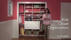 How to Organize a Kids Bedroom Closet YouTube