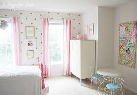 Little Girl's Room Decorated in Pink, White & Gold | 11 Magnolia Lane
