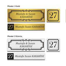 Kişiye Özel Kapı İsimliği Kapı Numarası Posta Kutusu İsimliği Fiyatları ve  Özellikleri