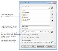 Convert Dwg To Dxf Exporting Features To Cad Drawings Help Arcgis For Desktop