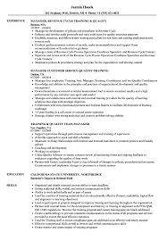 On The Job Training Resume Sample Manager Quality Training Resume Samples Velvet Jobs 14