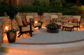 this great patio is ready for an evening with family and friends thanks to led patio