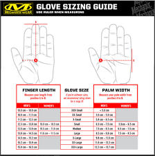 Glove Size 10 Chart Mechanix Gloves Size Guide