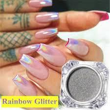 1 Box Unicorn Prášek Holografický Glitter Lak Na Nehty Glitter Prášek Rainbow Chrome Mirror Práškové Prachu Nehty Umění At Vova
