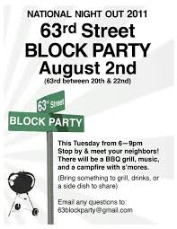 Block Party Flyers Templates Block Party Flyer Template Free Professional High Quality