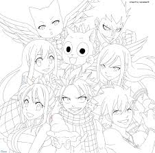 Anime Fairy Tail Coloring Pages Print Coloring