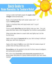 9 natural sunburn remes free printable
