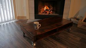how to make a simple stylish pallet coffee table for loft or mancave without having a work