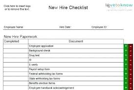 New Hire Orientation Checklist Template Employee Package For