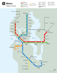 Seattle Transit Map Light Rail