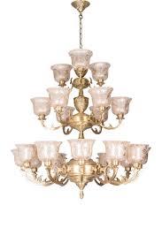 jaisalmer 3 tier 21 lights brass chandelier