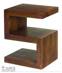 mango wood side table solid s shape coffee tables uk