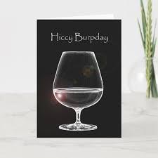 Hiccy Burpday / Happy Birthday with Brandy Card | Zazzle.co.uk