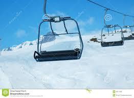 ski lift chairs nature skiing
