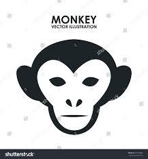 Monkey Graphic Design Monkey Graphic Design Vector Illustration Stock Vector