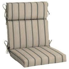 21 5 x 20 sunbrella cove pebble high back outdoor dining chair cushion
