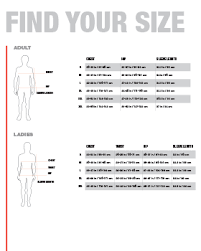 Size Charts Sanmar