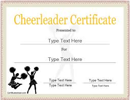 Downloadable Awards Certificates Sports Certificates Cheerleader Award Template Cheerleader