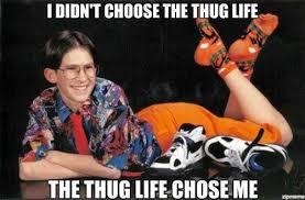 20 Best 'I Didn't Choose The Thug Life' Memes   SMOSH via Relatably.com