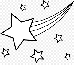 coloring book star drawing shooting clip art stars line cliparts