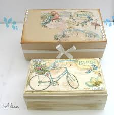 Decorating Boxes With Paper Paris Bicycle Hand Decorated Wooden Box with Gift Box £6060 58