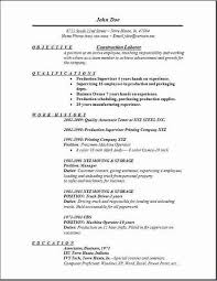 Printable Resume Sample Resume Template Resume Sample For Construction Worker Diacoblog Com