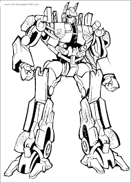 Transformers Color Page Coloring Pages For Kids Cartoon