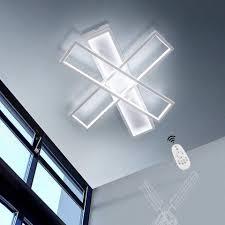 Hier findet ein großer teil des familienlebens statt: Zmh Deckenleuchte Deckenlampe 72w Dimmbar Mit Fernbedienung 55cm Windmuhle Design Kronleuchter Wohnzimmerlampe Online Kaufen Otto