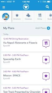 wdw dining reservations app