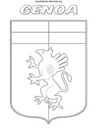 Logo Del Genoa Da Colorare Mondo Bimbo