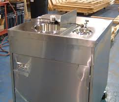 mobile stainless steel sink portable