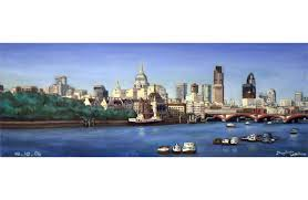 st pauls and london skyline at night drawings and paintings by stephen wiltshire mbe art d london skyline draw and paintings