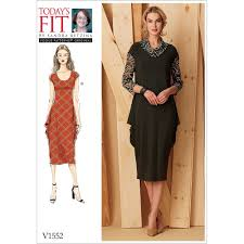 Vogue Patterns Dresses Amazing Misses Knit Draped Dresses Vogue Sewing Pattern 48 Sew Essential