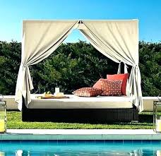 Outdoor Bed With Canopy Wicker Daybed Australia – New House Interior ...